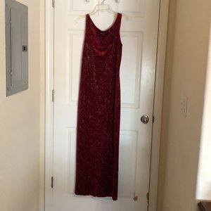 Vintage Red Betsey Johnson Maxi Dress
